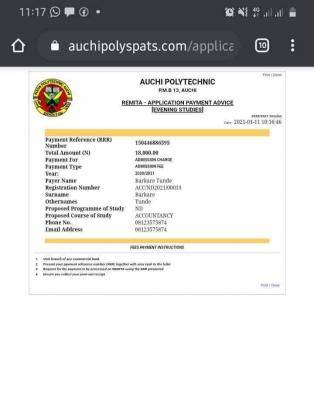 AUCHI POLY SPAT Admission Form for 2020/2021 session