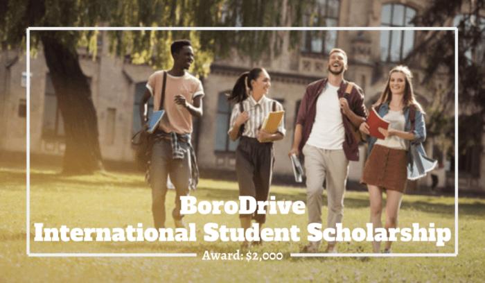 Study in US: BoroDrive International Student Scholarship 2020