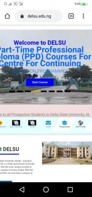 DELSU notice to 2020/2021 Post-UTME candidates