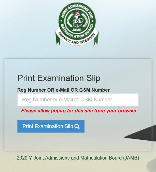JAMB 2020 Exam Slip Printing Begins