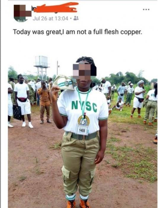 See How A Corps Member Captioned Her Post