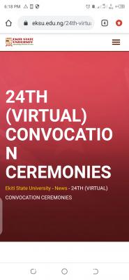EKSU announces 24th Convocation Ceremony (Virtual)