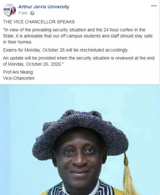 Arthur Jarvis University Reschedules Exams