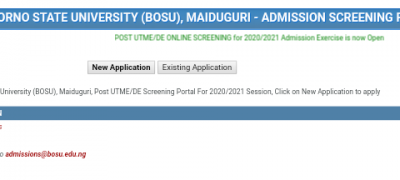 Borno State University Post-UTME/DE 2020: Cut-off Mark, Eligibility and Registration Details