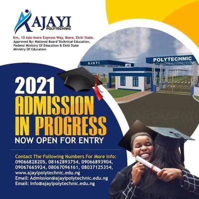 Ajayi Polytechnic admission for 2021/2022 session