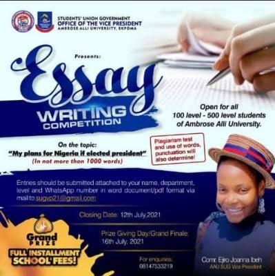 AAU, Ekpoma SUG essay competition