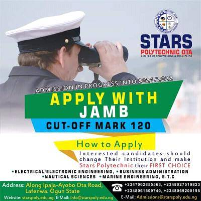Stars Polytechnic admission for 2021/2022 session