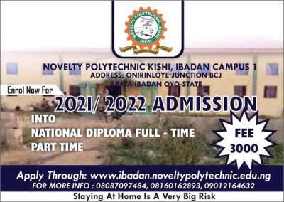 Novelty Polytechnic ND admission form, 2021/2022