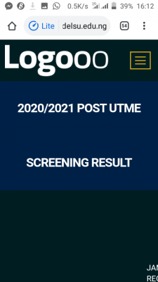 DELSU Post-UTME Screening results for 2020/2021 session