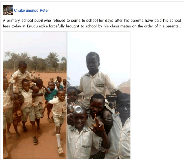 Funny Moment Students Dragged Their Classmate to School After He Refused to Attend Class