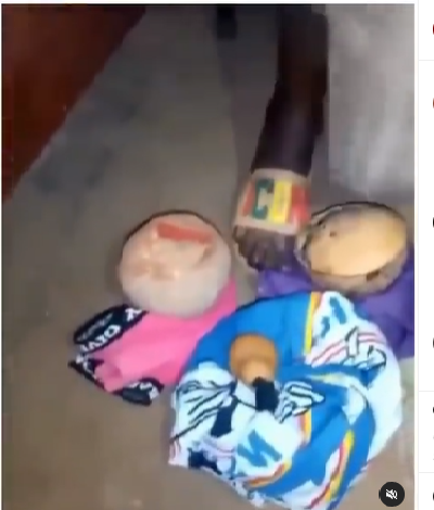 EKSU student caught while allegedly trying to use his roommate for money ritual (video)