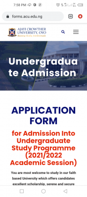 Ajayi Crowther University Post-UTME/DE 2021: Eligibility and Registration Details