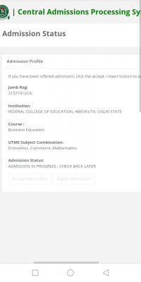 FCE Abeokuta NCE admission list, 2020/2021 out on JAMB CAPS