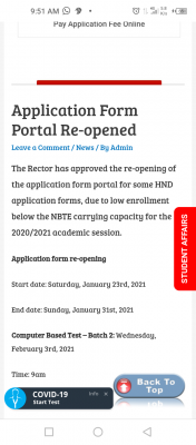 LASPOTECH reopens HND application portal for 2020/2021 session