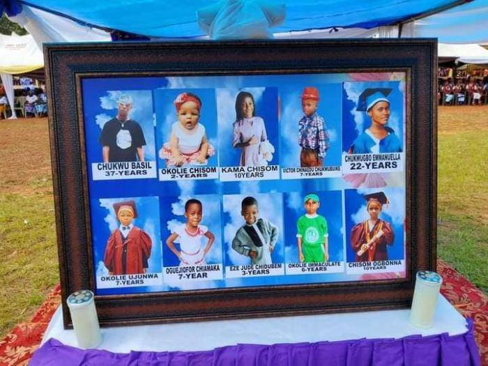 Photos from the threnody held in honor of eight pupils killed in a fatal accident in Enugu (photos)