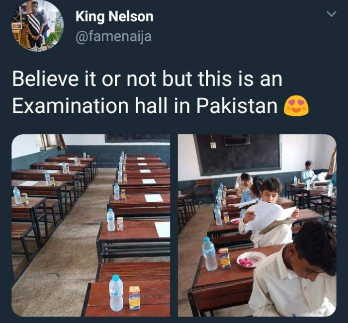 Viral Photo of An Examination Hall In Pakistan