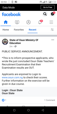 Osun State Teachers' recruitment entrance exam result is out
