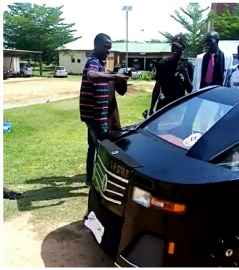 FUTMINNA engineering student builds a car for his final year project (video)