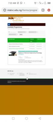 NTA Television College Diploma Admission, 2021/2022