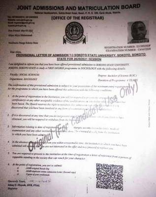 Sokoto State University admission list, 2020/2021 out on JAMB CAPS