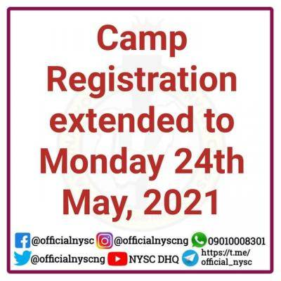 NYSC camp registration extended to May 24th