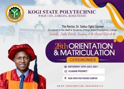 Kogi Poly announces 28th matriculation ceremony