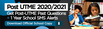 Post UTME Past Questions - 2019-2020 Exam Format + Free SMS Alerts - 17340