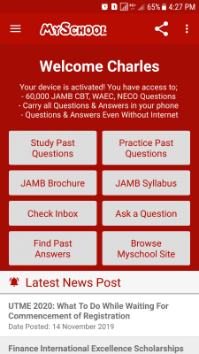 Myschool JAMB CBT Android Mobile App Agent/Reseller - Gold Package